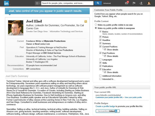 How to Set Your LinkedIn Profile for Public Viewing - how to make business profile