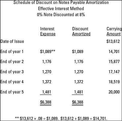 No-Face, No-Interest Notes Payable - dummies