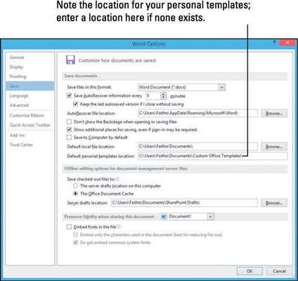 How to Create and Change Templates in Word 2013 - dummies - microsoft word 2013 templates