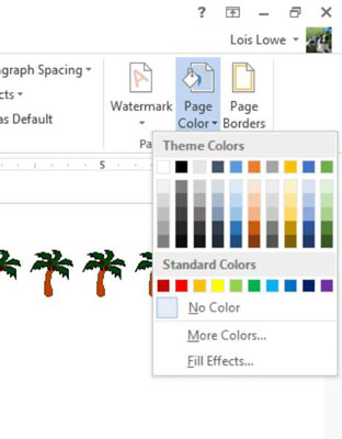 How to Apply Page Backgrounds in Word 2013 - dummies