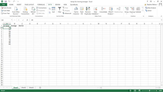 How to Calculate Weighted Moving Averages in Excel Using Exponential