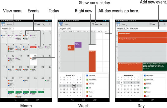 How to Create an Event on Your Android Tablet\u0027s Calendar - dummies - create a picture calender