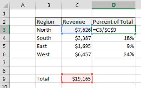Calculating a Percent Distribution in Excel - dummies