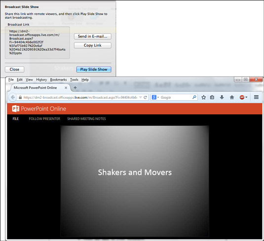 How to Show Your PowerPoint Presentation to Others Online from Your