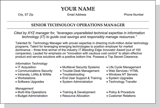 summary your resume
