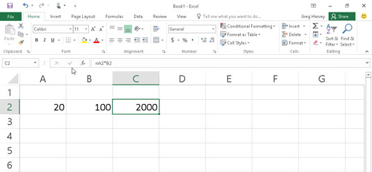 How to Manually Create Formulas in Excel 2016