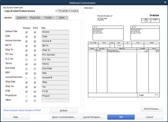 How to Customize Your Invoices and Credit Memos in QuickBooks 2016