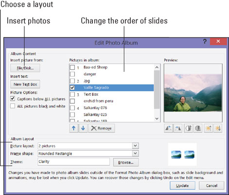 How to Create a Photo Album in PowerPoint 2016 - dummies - create power point