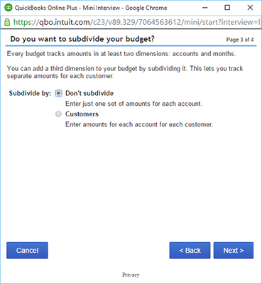 How to Prepare a Budget in QuickBooks Online - dummies