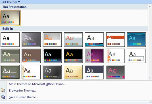Design Slides with PowerPoint Themes - dummies - power point slide designs