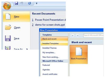 How to Create a New PowerPoint 2007 Presentation from a ...