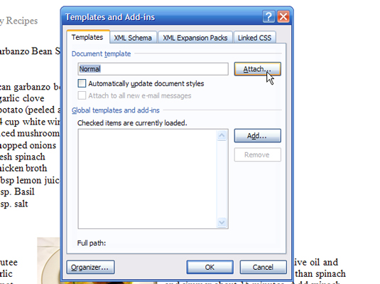 How to Attach a New Template to a Word 2007 Document - dummies