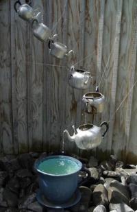 Spring garden ideas- teapot fountain - Dump A Day