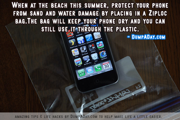 DumpADay Life Hacks- Beach Phone