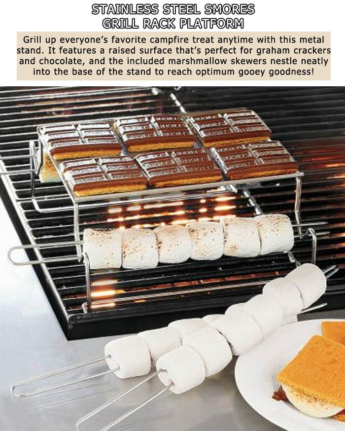 4 Stainless Steel Smores Grill Rack Platform