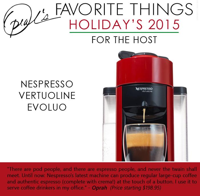 1 Oprah's Favorite Things- Nespresso VertuoLine Evoluo