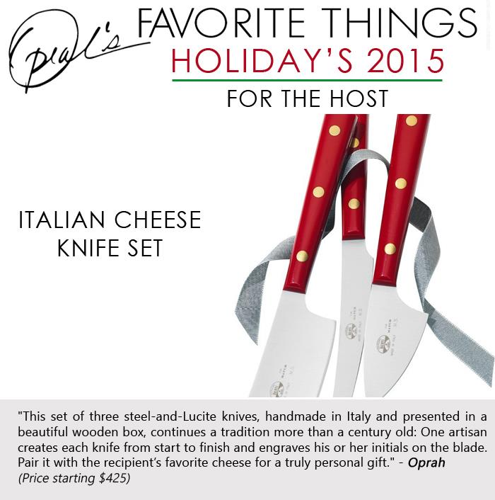 2 Oprah's Favorite Things - Italian cheese knife set