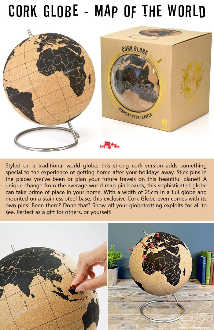 Cork Globe - Map of the World