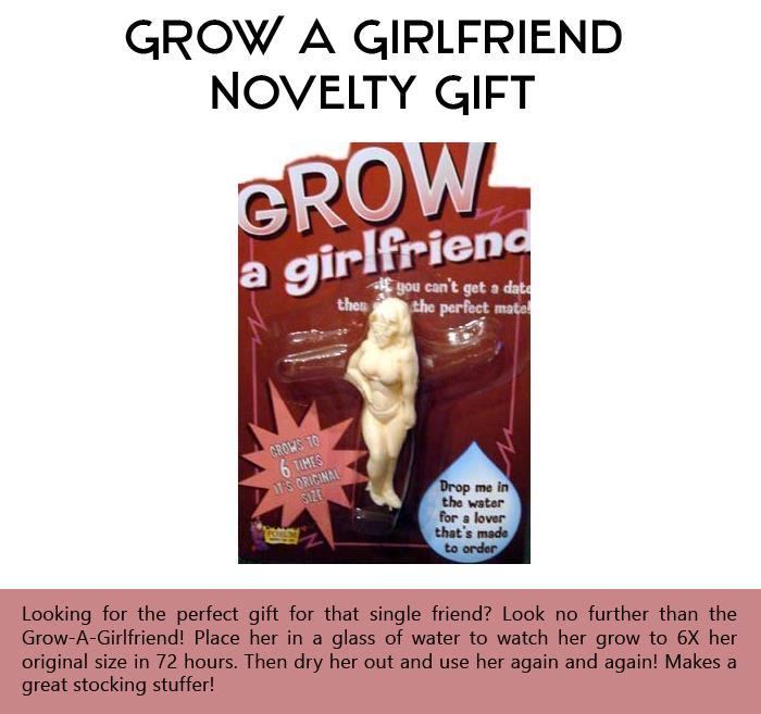 GROW a Girlfriend Novelty Gift