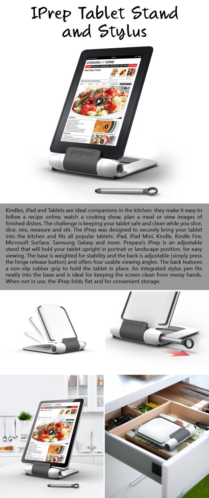 IPrep Tablet Stand and Stylus