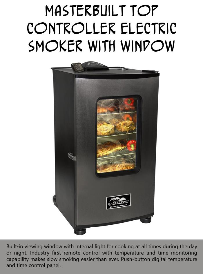 Masterbuilt Top Controller Electric Smoker with Window