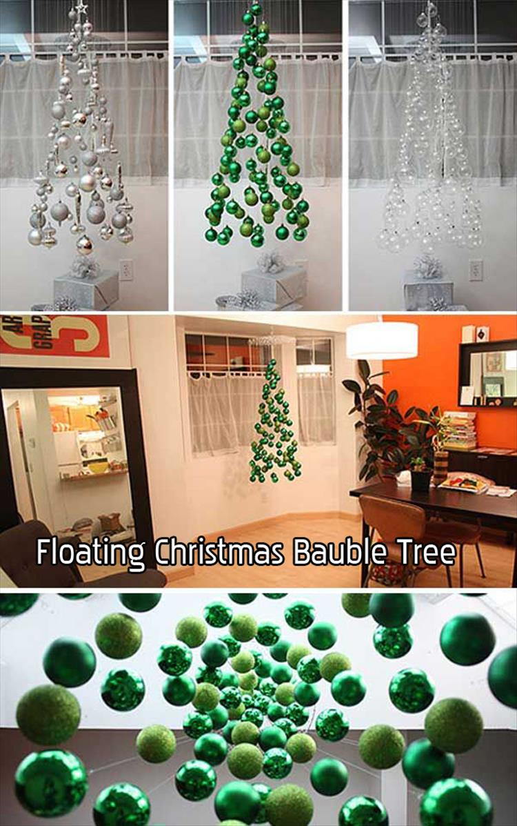 Floating Christmas Bauble Tree