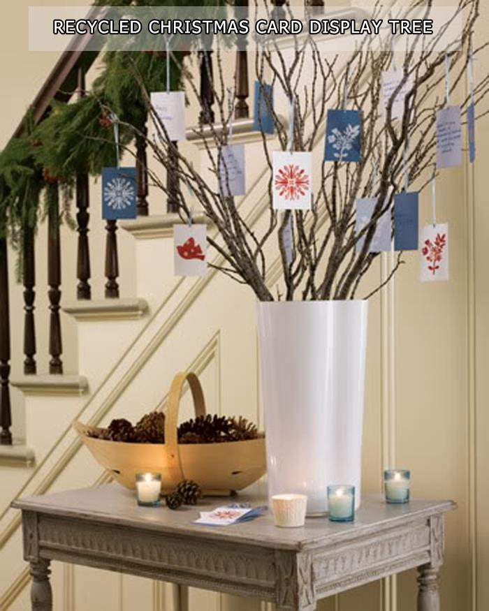 Recycled Christmas Card Display Tree