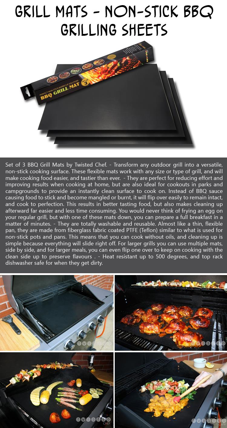 Grill Mats - Non-stick BBQ Grilling Sheets