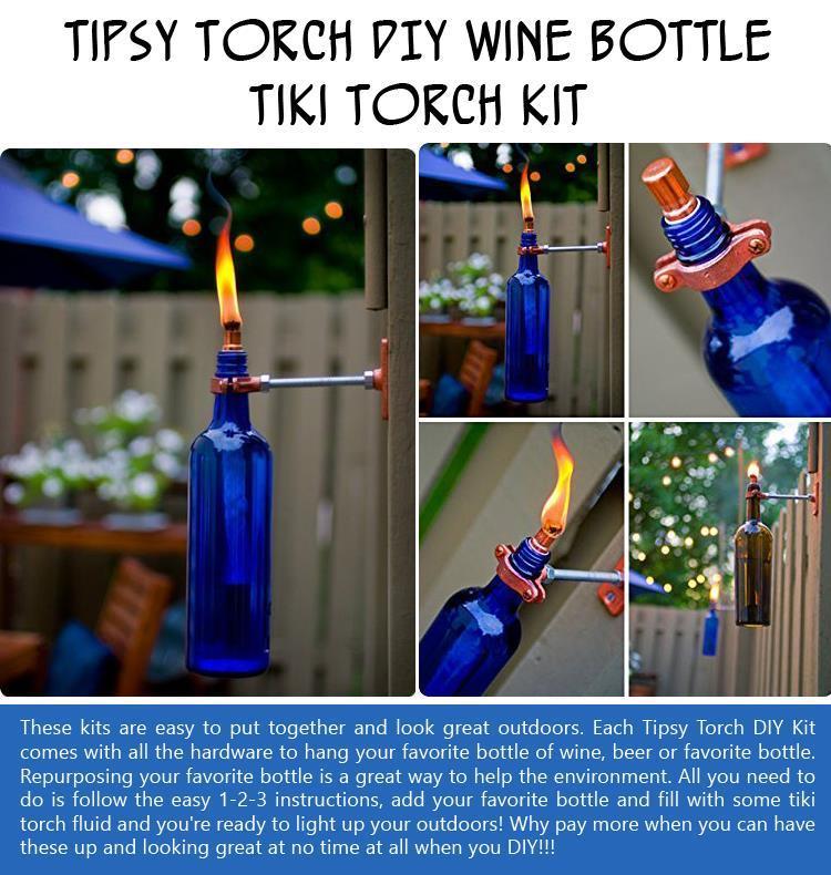 Tipsy Torch DIY Wine Bottle Tiki Torch Kit
