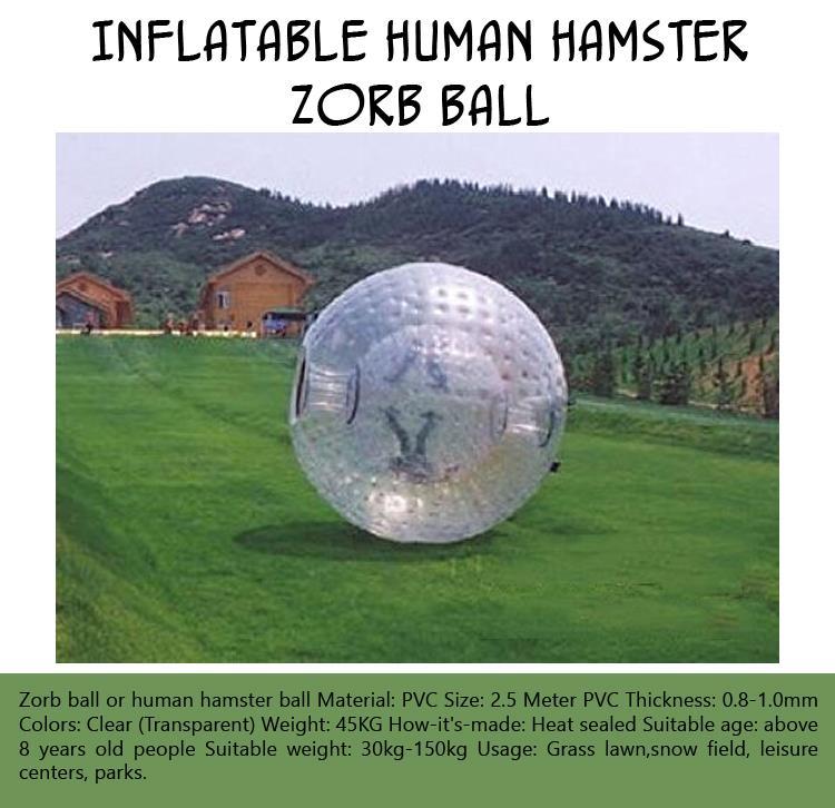 Inflatable Human Hamster Zorb Ball