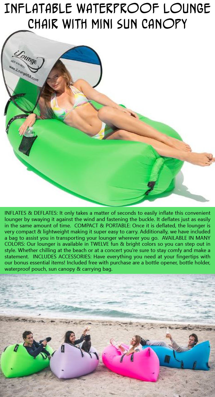 A waterproof beach chair