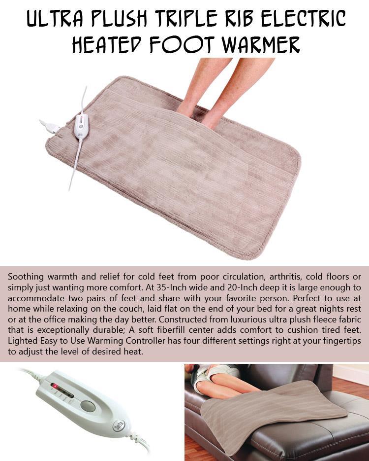 ultra-plush-triple-rib-electric-heated-foot-warmer