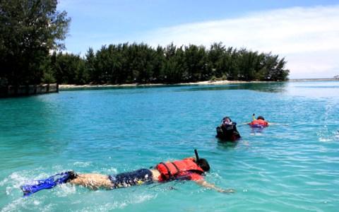 Kawasan wisata Pulau Pramuka.