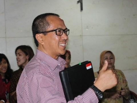 Bachtiar Abdul Fatah usai mengikuti persidangan di Pengadilan Tipikor Jakarta.