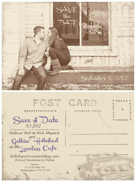 Beautiful Save the Date Wedding Postcard Custom Designs - save date postcard