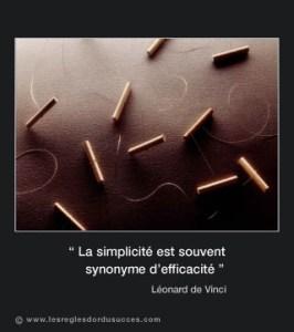 La simplicité est souvent synonyme d'efficacité