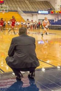 Aaron Warnick | Photo Editor. This file photo from Nov. 2013 shows Dan Burt watching women's basketball practice.