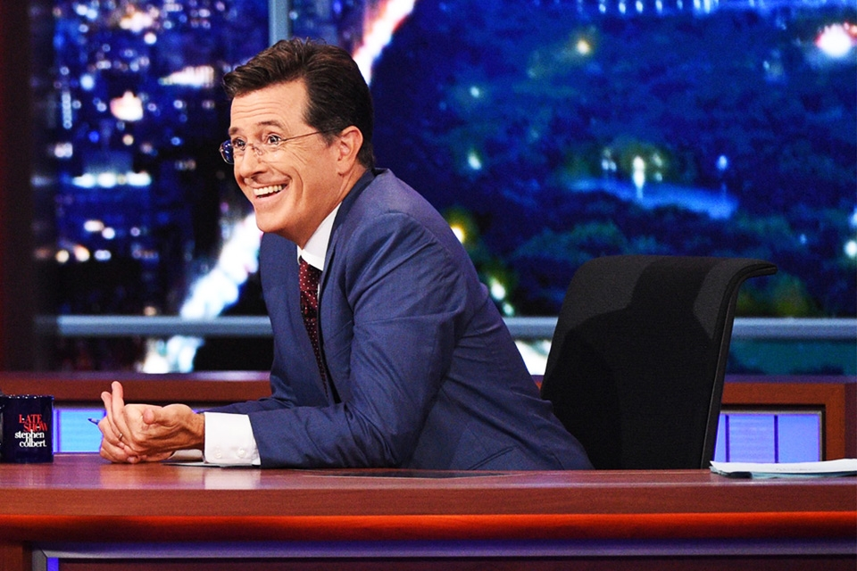 Stephen Colbert Doesn't Believe Donald Trump Is Tweeting to Relieve Pressure