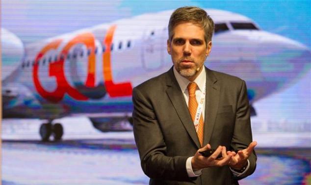 """Paulo Kakinoff, da Gol, durante """"Insight Meeting"""" com Delta e clientes"""