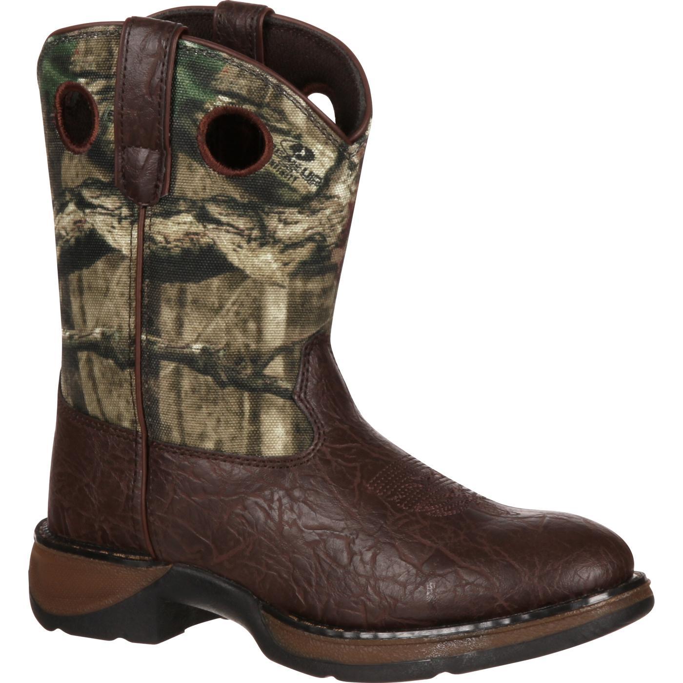 Lil39 Durango Kids39 8quot Brown Camo Western Boots Bt250