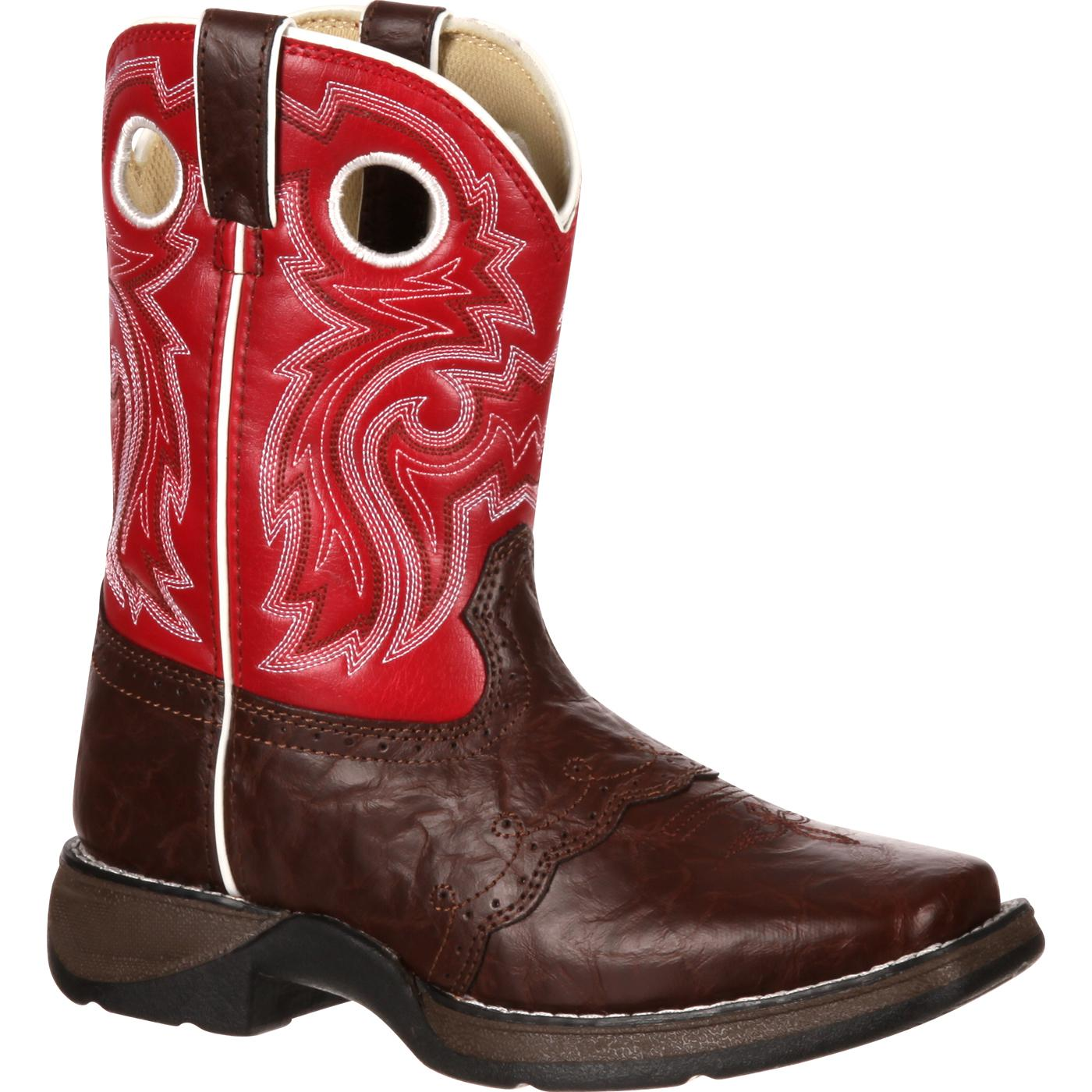 Lil39 Durango Kid39s Square Toe Pull On Western Boots