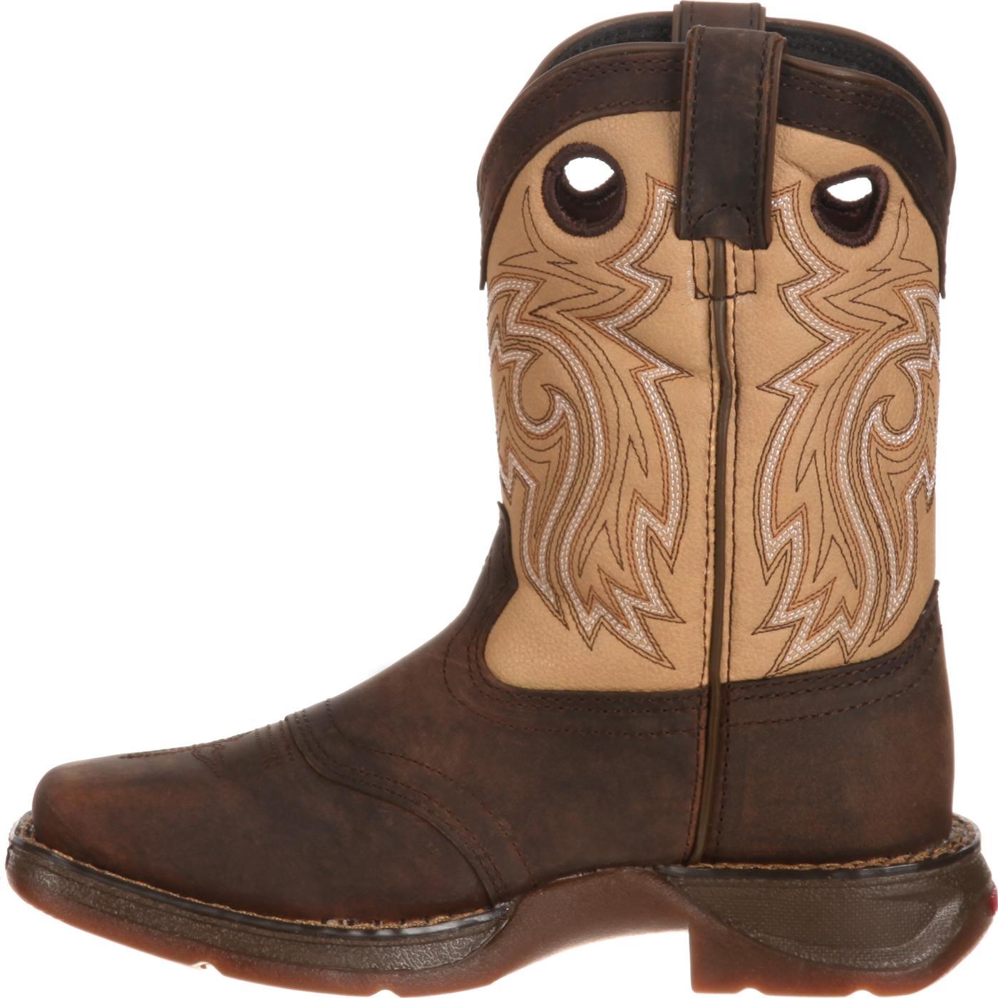 Lil39 Durango Toddler Tan Brown Saddle Western Boot Dbt0116