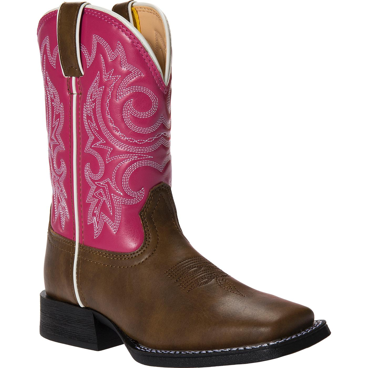 Lil39 Durango Little Kid Pink And Brown Western Boot Bt217