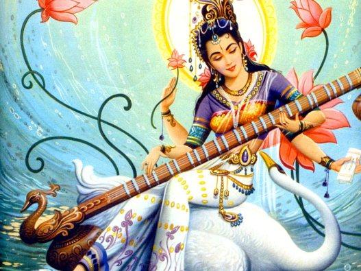 Goddess Saraswati pujo