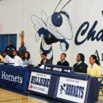 Eight Hillside seniors sign with colleges