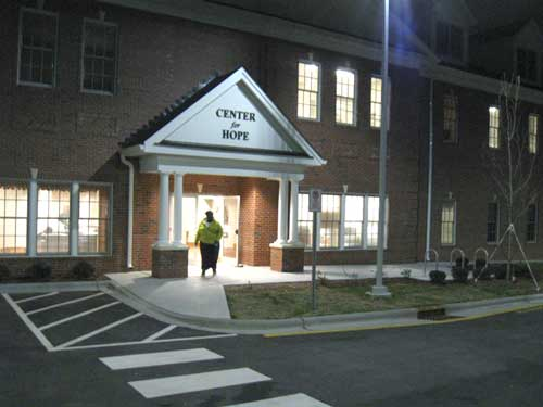 The new Center for Hope building during the night of the opening event. (photo: Marissa Peterson)