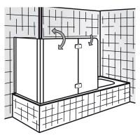 HSK Premium Softcube - Badewannenaufsatz 2-teilig mit ...