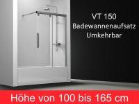 Duschabtrennungen Largeur 140 - Badewannenaufsatz 140 cm ...