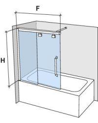 Duschabtrennungen Largeur 160 - Badewannenaufsatz 160 cm ...