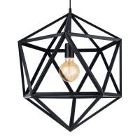 Eglo 49762 Embleton Large Black Geometric Pendant Light